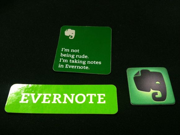 Evernote dev. meetingのじゃんけん大会でEvernote goodsを頂きました! #evernote